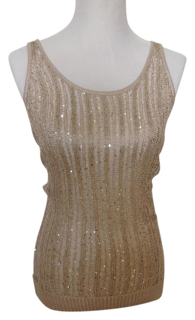 Preload https://img-static.tradesy.com/item/19357296/willow-and-clay-champagne-sequin-tank-topcami-size-4-s-0-3-650-650.jpg