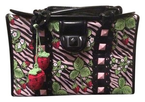 Betsey Johnson Black And pink Zebra Print Travel Bag