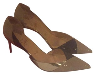 Christian Louboutin Blk/silver/taupe Pumps