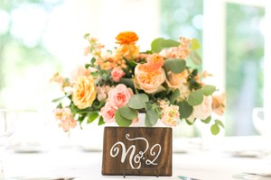 Hand-painted Table Number Signs (1-13)
