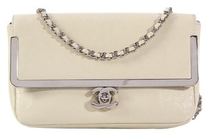 Chanel Cc Frame Ch.k0728.09 White Cross Body Bag