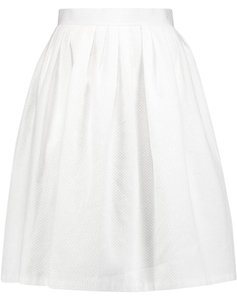 Raoul Pleated Cotton High Waisted Skirt White
