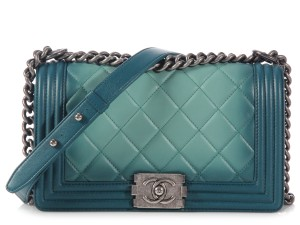 Chanel Antiqued Silver Ch.k0728.14 Quilted Leather Degrade Shoulder Bag
