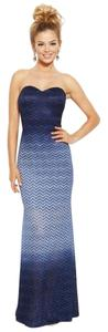 Betsy & Adam Glitter Chevron Dress