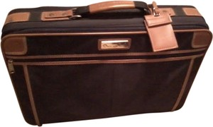 Oscar de la Renta Suitcase Vintage Luggage Luggage Luggage Black/Tan Travel Bag