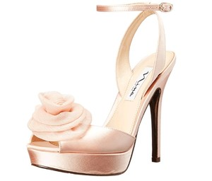 Nina Peach Satin Heels Formal Size US 5 Regular (M, B)