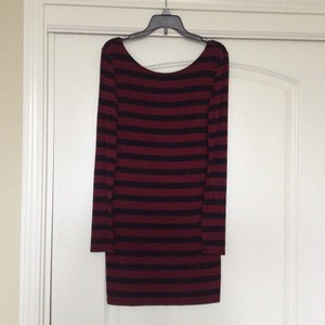 Forever 21 short dress Black and burgandy stripes on Tradesy