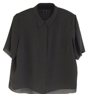 424 Fith by Lord&Taylor Top Dark Gray