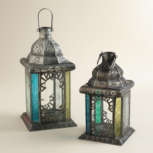 Multicolor Tabletop Lantern- Lot Of 19 ~ Michigan