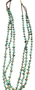 New Mexican Turquoise Hisei Necklace NEW MEXICAN TURQUOISE AND HISEI NECKLACE