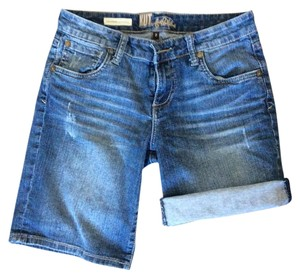 KUT from the Kloth Cuffed Shorts Medium wash denim blue