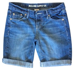 Mossimo Supply Co. Cuffed Shorts Medium wash denim blue