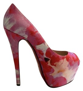 Christian Louboutin Pump Peep Toe Multicolor multi, pink, red Platforms
