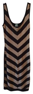 Guess By Marciano Sparkles Stripes Gold Dress