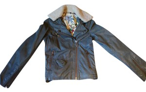 DOMA Gray/Green Leather Jacket