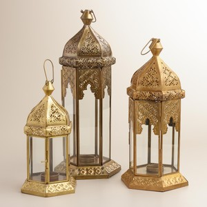 7 Brass Tabletop Lanterns