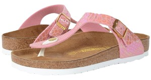 Birkenstock Gizeh Shiny Snake Rose Sandals