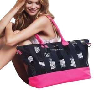 Victoria's Secret Black/Pink Beach Bag