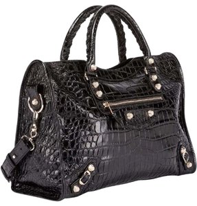 Balenciaga Satchel in black embossed