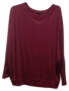 Ambiance Brand Long Sleeev Top Burgundy