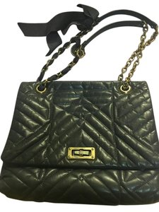 Lanvin Medium Taupe Quilted Shoulder Bag