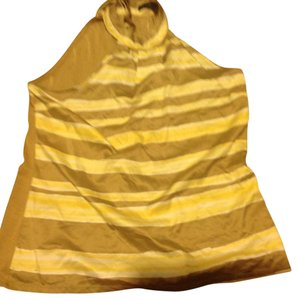 The Limited Like New Tie Around Yellow and tan Halter Top