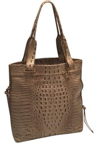 Brahmin Tote in Tan, Light Brown, Gray