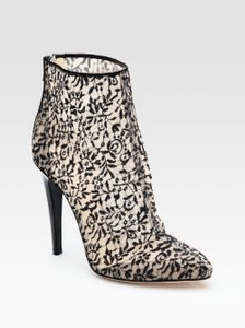 Bottega Veneta Lace Floral Sexy Made In Italy Stiletto Black Boots