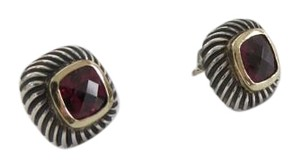 David Yurman 7mm Albion Garnet SS/14k YG Earrings