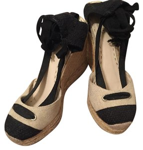 Coach Ivory and black Wedges