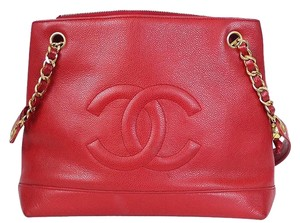 Chanel Vintage Classic Tote in Red