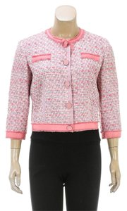 Marc Jacobs Pink/Multicolor Womens Jean Jacket