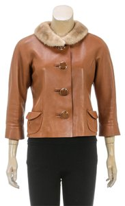 Marc Jacobs Tan Womens Jean Jacket