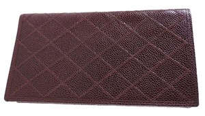 Chanel CHANEL Matelasse Stitch Bifold Long Wallet Leather Brown