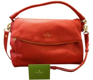 Kate Spade Leather Crossbody Satchel in Hot pink