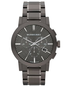 Burberry Authentic Chronograph Gray Ion Plated SS BU9354