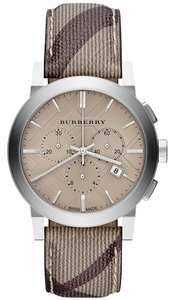 Burberry Authentic Burberry Chronograph Smoke Check Fabric Strap watch 42mm