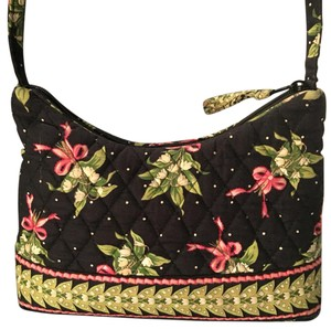 Vera Bradley Satchel in Black Green Pink