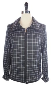 Ralph Lauren Checkered Lightweight Small BLACK AND WHITE Jacket