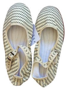 Urban Outfitters Off white with black pattern Flats