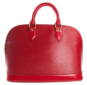 Louis Vuitton Lv Alma Lv Alma Epi Tote in red