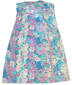 Lilly Pulitzer short dress Pink & Blue Floral Strapless on Tradesy