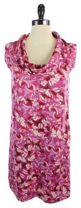 Ann Taylor LOFT short dress Pink Pint And Red Printed on Tradesy