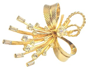 Sarah Coventry Gold Tone Angel Crystal Brooch Sarah Cov