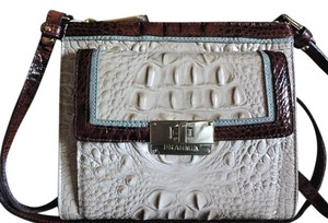 Brahmin Croc Leather Small Size Multi-color Built-in Wallet Cross Body Bag