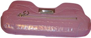 Maxx New York Leather Violet Clutch