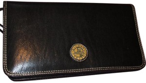 Michael Stevens Leather Wristlet in Brown