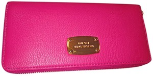 Michael Kors Leather Fuschia Clutch