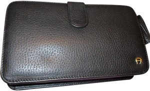 Etienne Aigner Leather Black Clutch