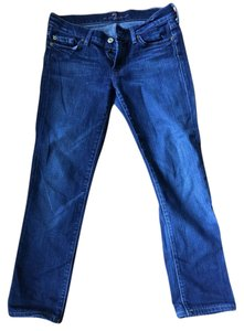 7 For All Mankind Capri/Cropped Denim-Medium Wash